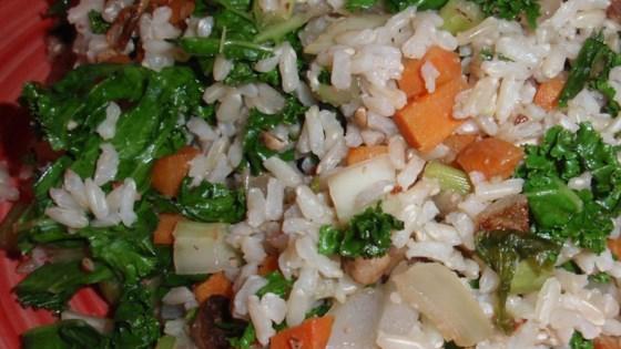 Brown Rice and Kale Salad