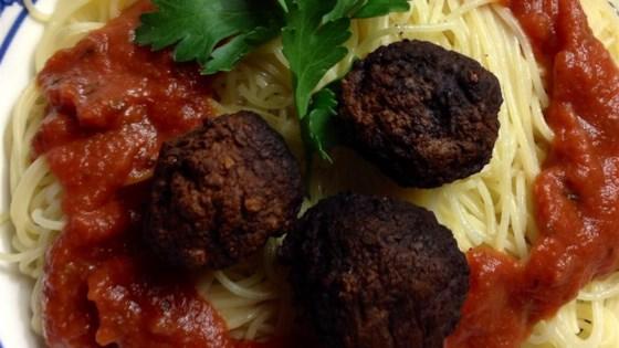 Spaghetti and Chipotle Meatballs