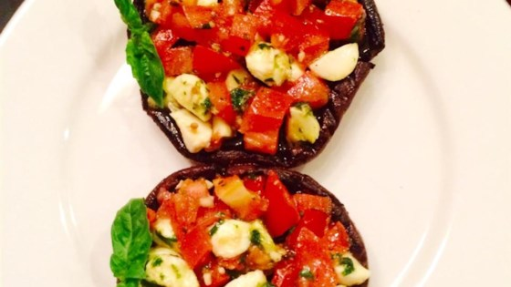 Grilled Portobello and Mozzarella