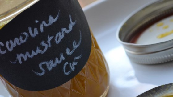 How do you make a ham sauce with mustard and vinegar?