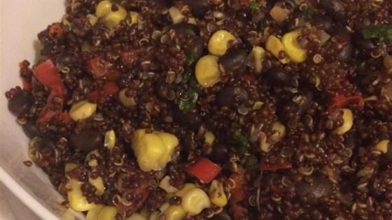 Spicy Quinoa, Bean, and Pepper Salad