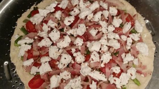Bacon Asparagus Pizza