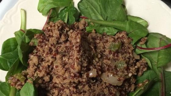 Dirty Quinoa with Venison Burger