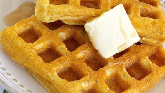Cornmeal Waffles with Chia Seeds
