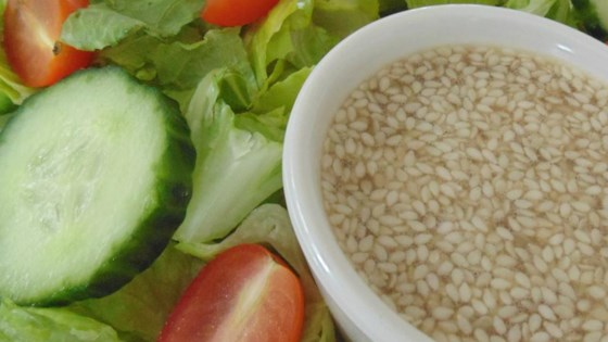 Sweet and Sour Sesame Seed Salad Dressing