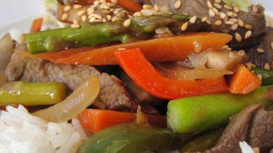 Essanaye's Sesame Beef Stir Fry