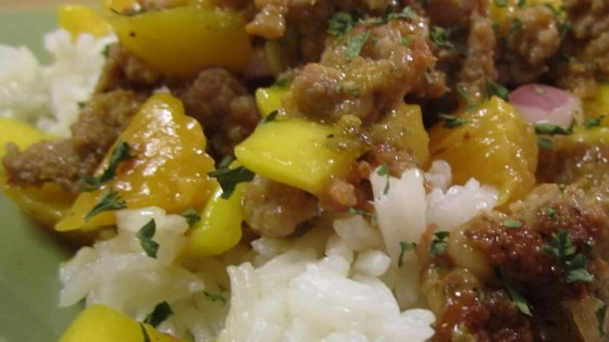 Sausage with Mango Salsa
