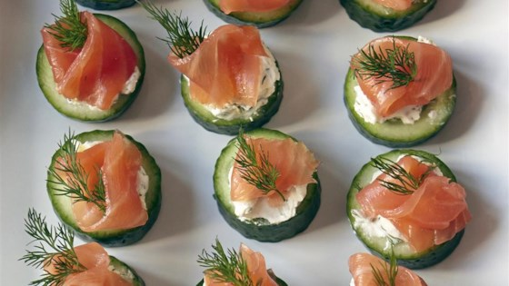 Cucumber Cups With Dill Cream And Smoked Salmon Recipe