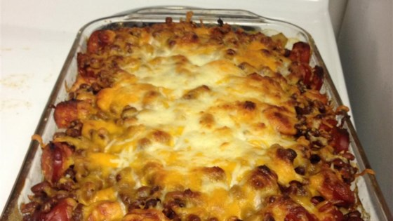 Hot Sausage Links and Beans Casserole