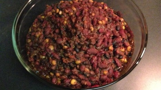 Slow Cook 3-Bean Chili (Vegetarian and Gluten Free)