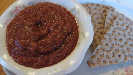 Grilled Eggplant Pepper Appetizer Dip