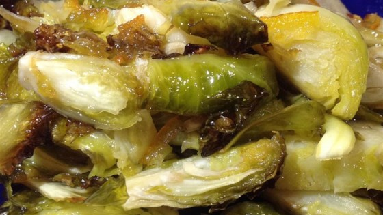 Brussels Sprouts and Apricot Saute