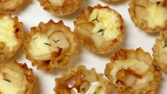Warm Brie and Pear Tartlets