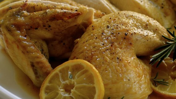 Butterflied Roast Chicken with Lemon and Rosemary