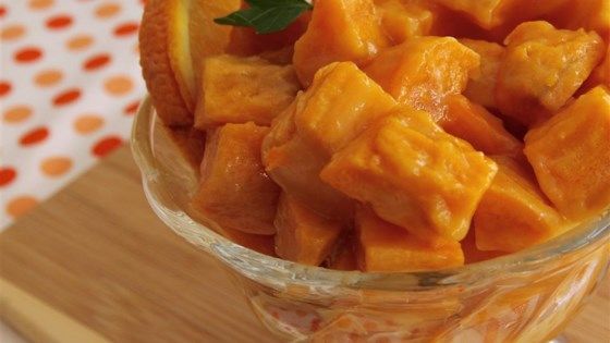 Gingered Sweet Potatoes with Orange Juice