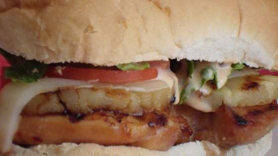 Grilled Hawaiian Chicken and Pineapple Sandwiches