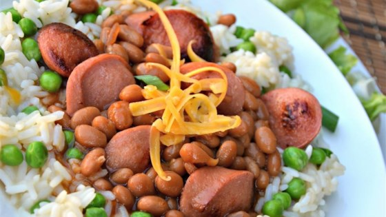 Dogs 'n' Beans Rice Bowl