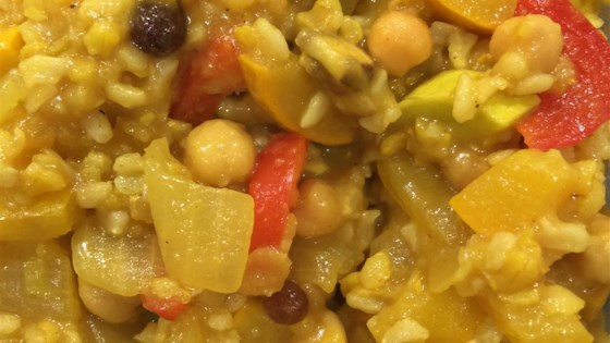 Mediterranean Yellow Rice and Vegetables