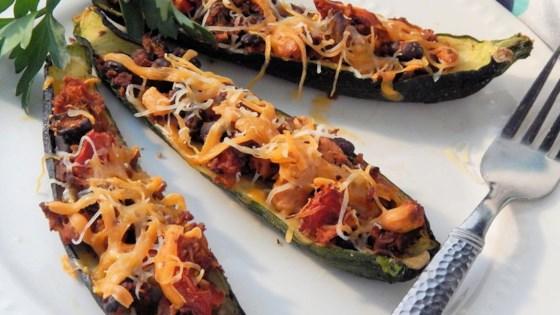Chorizo Stuffed Summer Squash