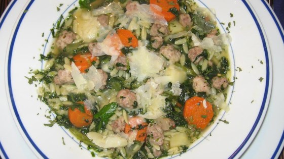 Italian Wedding Soup With Orzo