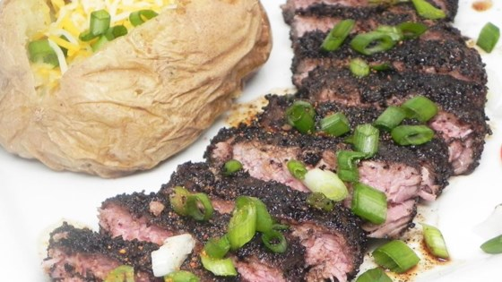 Coffee-Crusted Beef Tenderloin Steak