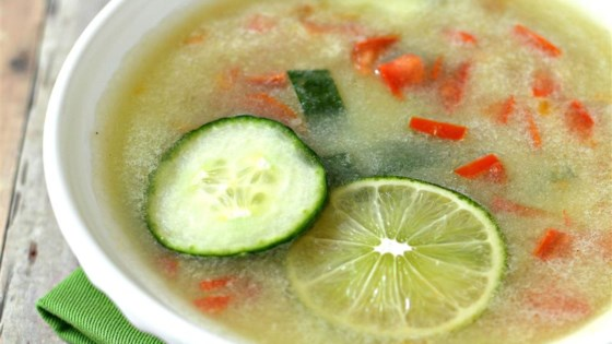 Cucumber Soup with Tomatoes