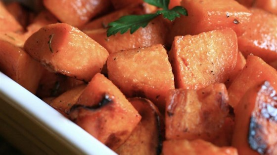 Honey and Rosemary Sweet Potatoes