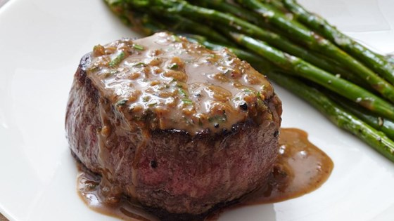 Oven Seared Beef Tenderloin With Herb Pan Sauce Recipe