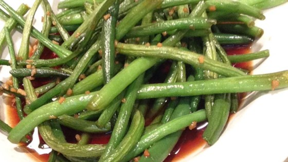 Honey Ginger Green Beans