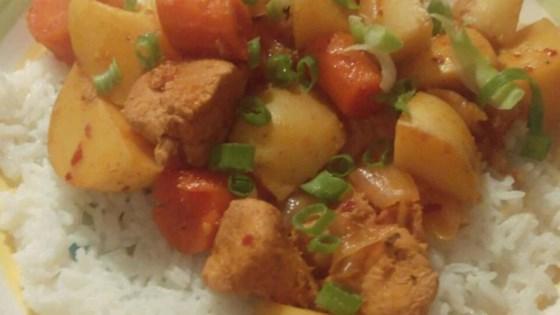 Spicy Korean Slow Cooked Chicken (Dhak Dori Tang)