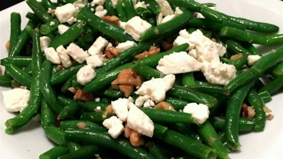 Green Beans with Feta and Walnuts