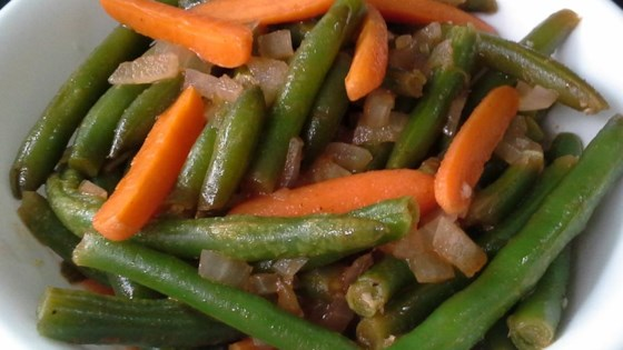 Egyptian Green Beans with Carrots