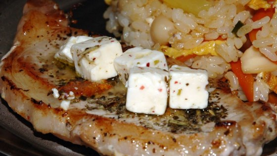 Pork Chop and Feta Skillet