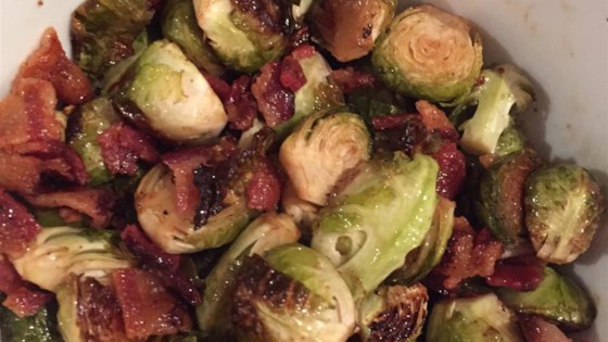 Maple Roasted Brussels Sprouts with Bacon Recipe ...