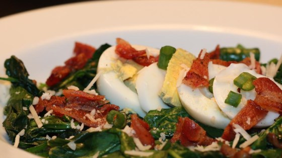 Easy Warm Spinach Salad