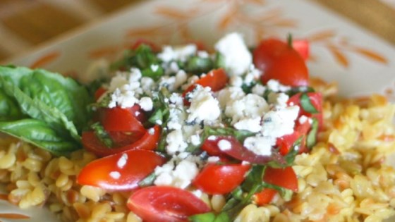 Orzo with Tomatoes, Basil, and Gorgonzola