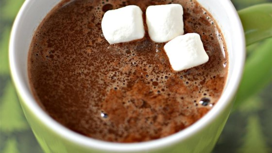 Minty Eggnog Hot Chocolate