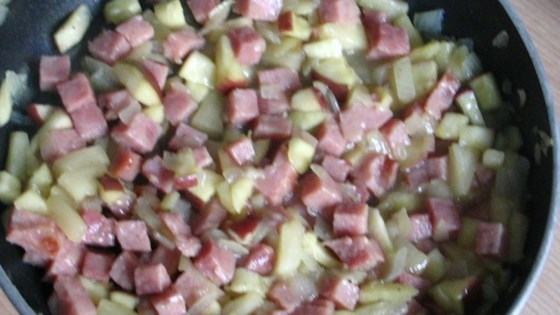 Ham and Fruit Stir-Fry
