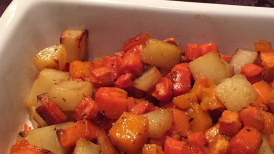 Sweet Roasted Autumn Root Vegetables