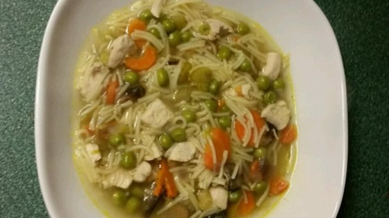 Grilled Chicken Noodle Soup
