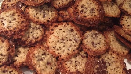 Milk Chocolate Florentine Cookies