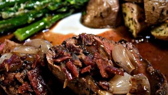 Beef Tenderloin With Roasted Shallots Recipe Allrecipes Com