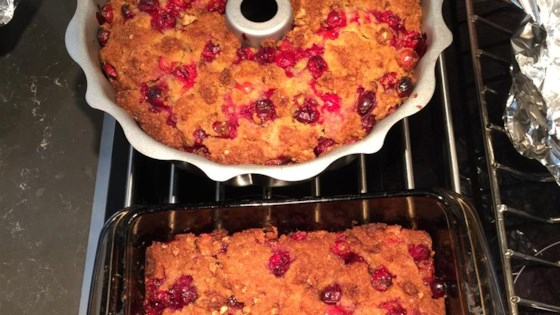Really Cranberry Orange Yummy Gummy Pudding Cake