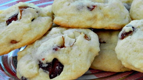 Soft Sugar Cookies With White Chocolate, Almonds, and Cranberries