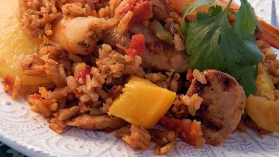 Jambalaya with Fresh Fruit