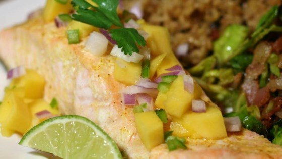 Curry Salmon with Mango