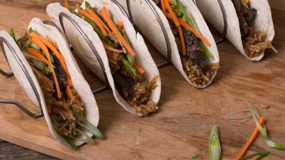 Korean BBQ Beef Tacos