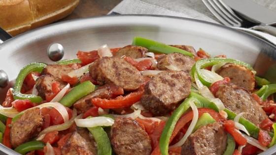 Johnsonville Italian Sausage, Onions  Peppers Skillet Recipe
