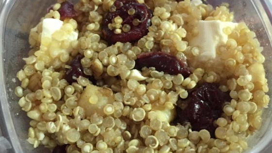 Quinoa with Feta, Walnuts, and Dried Cranberries