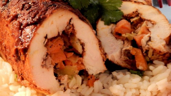 Stuffed Roasted Barbecue Chicken